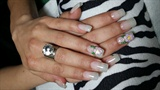 Natural white gel nails