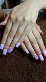 Lilac gel nails