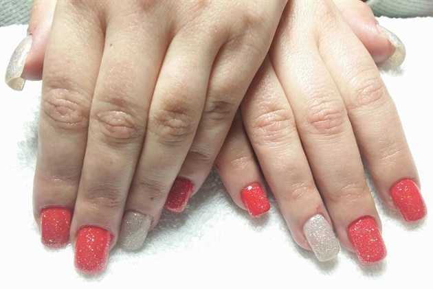 Winter gel nails