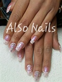 Hand painted french nail art