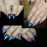 Acrylic nails and pigments