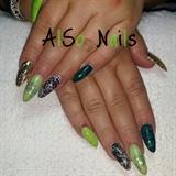 Acrylic almond nails