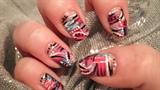 Abstract summer nails