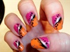pink & orange. Inspired by love4nails