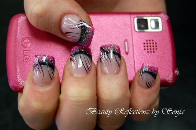 Pinkblack Rockstar Nail Art Gallery
