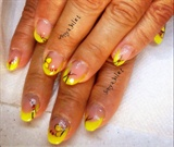 Yellow French And Butterflies
