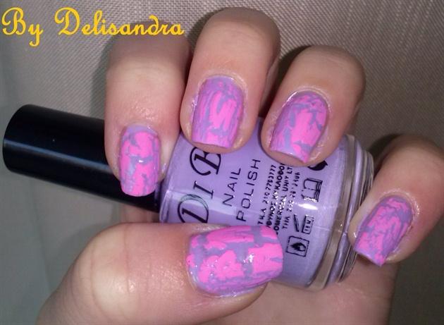 Pink Crackle Polish