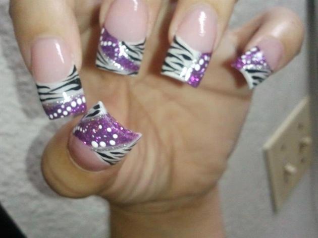 Purple Glitter and Zebra