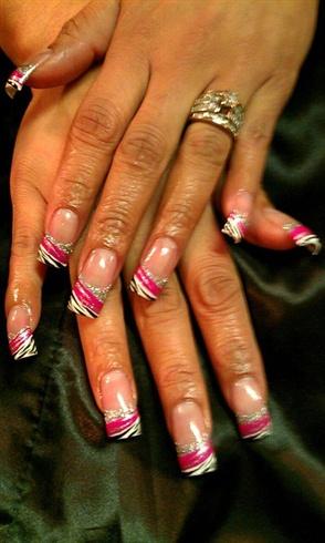Silver glitter Hot Pink with Zebra