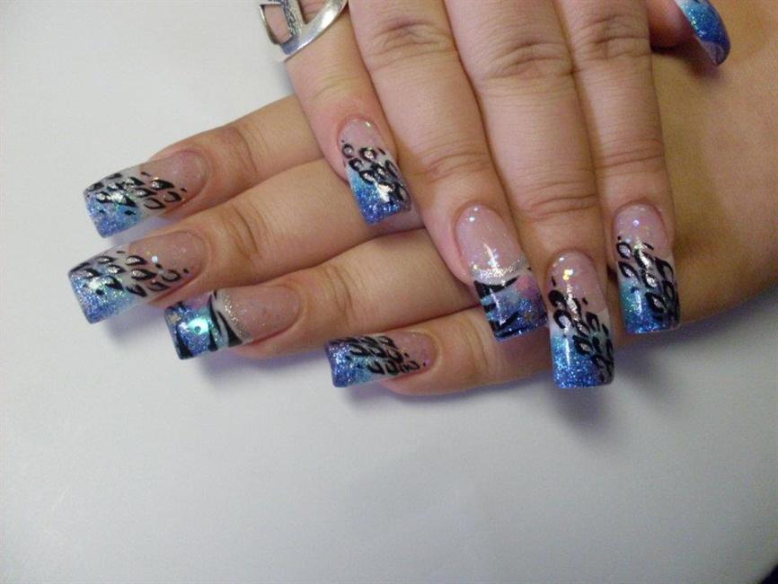 Contemporary Cheetah And Zebra Print Nails Sketch Nail Art Design