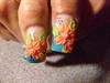3D flowers on thumbs
