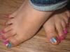 Multicolor toenails