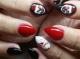 Evil Clown Nails