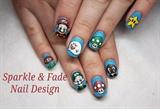 Handpainted Mario Nails