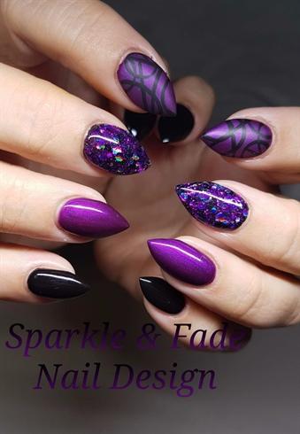 Elegant Purple Nails