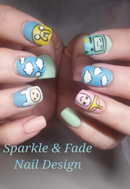 Handpainted Adventure Time Nails Nail Art Gallery