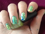 Green And Blue Water marble
