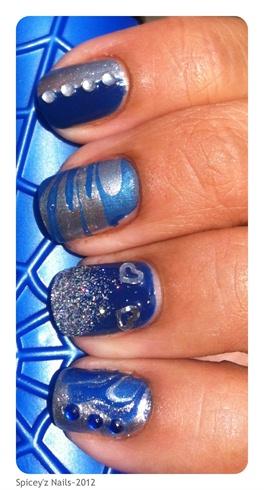 Blue & Silver Mix