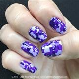 Purple Digi Camo Manicure