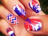 Patriotic Nail Designs| Red White & Blue