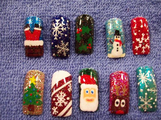 Holiday nail tips