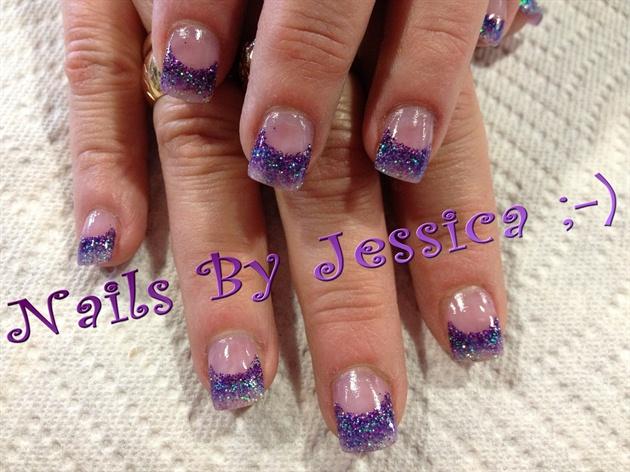 purple ombre acrylic nails