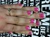 Pink & White Bidazzled