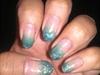 sea green ombre tips