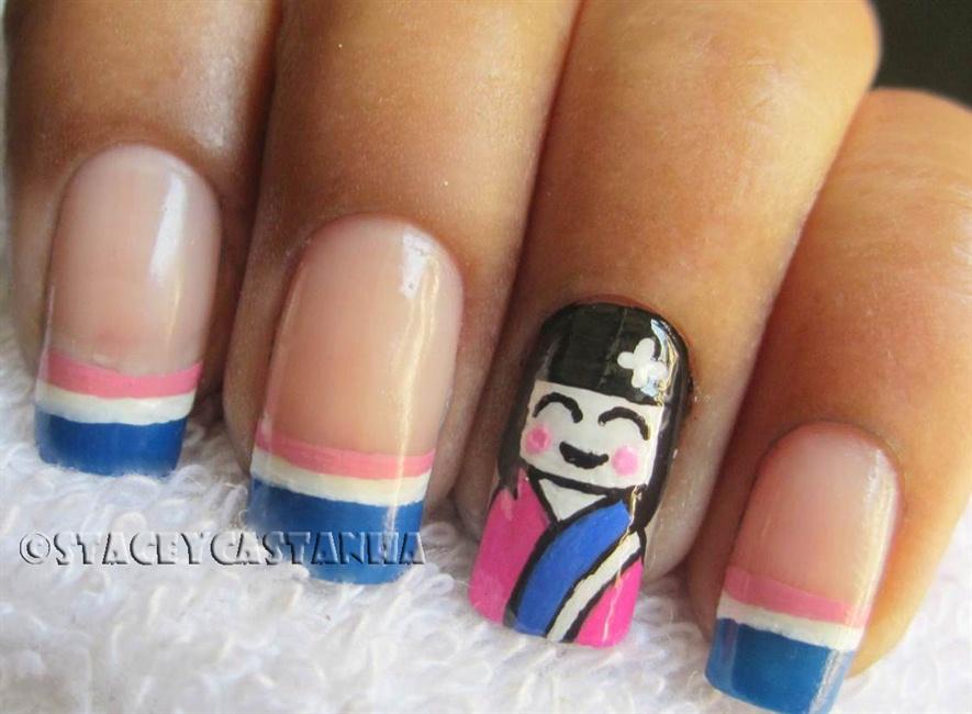 Cute Geisha Nail design - Nail Art Gallery