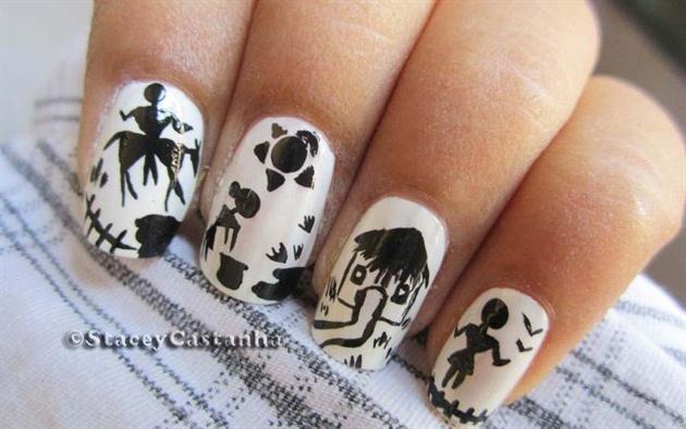 Indian Tribal nail design - Indian Tribal Nail Design - Nail Art Gallery