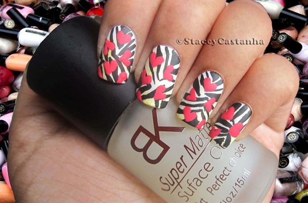 Matte Zebra Pattern with Hearts
