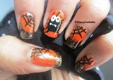 Spider and web nails for halloween