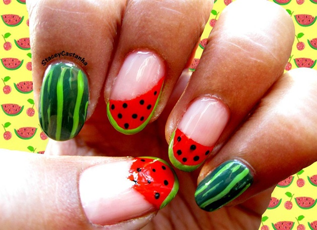 Watermelon nail design :) - Watermelon Nail Design :) - Nail Art Gallery