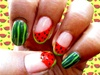 Watermelon nail design :)