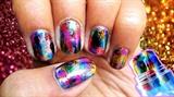 Glitter foil nails