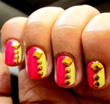 Stud nails with neon punch!