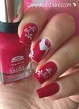 Romantic Nailswith Sally Hansen Aria Red