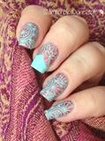 Mint & Copper Nails