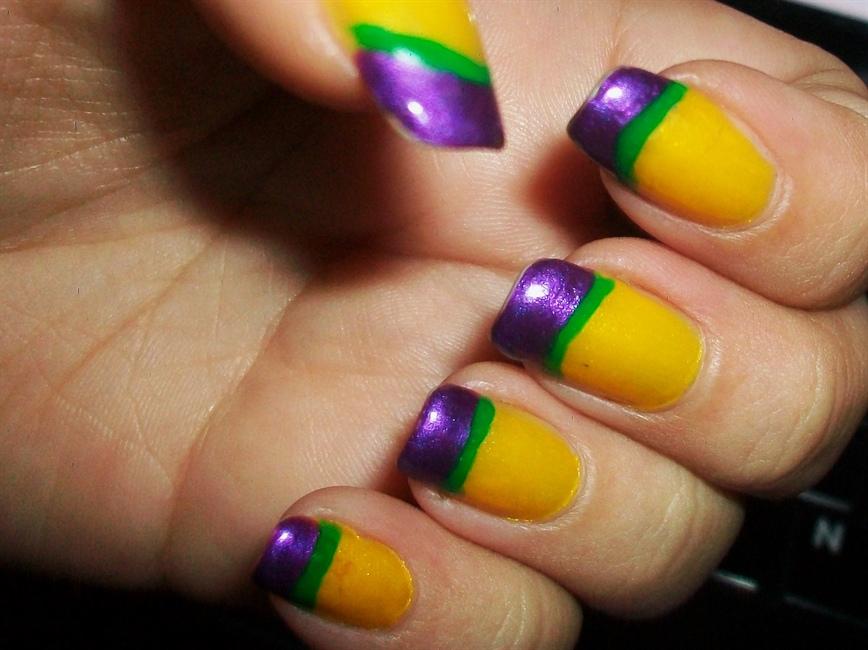 Mardi Gras French - Nail Art Gallery