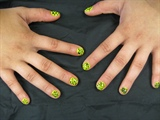 green & black tiger strips