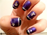 Purple, Black and Silver w/ Jewels