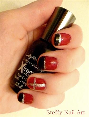 Red, Black & Silver Cross
