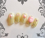 glitter stripes & cameo