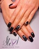 Black with white design