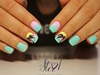 Ombre tropical nails