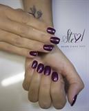 Glittery purple
