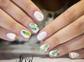 nail art: Tropical nails