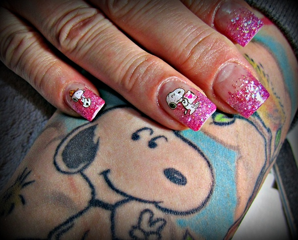 Snoopy Obsessed - Snoopy Obsessed - Nail Art Gallery