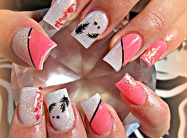 nail art: Feather Flutter