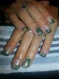 green camo glitter